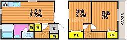 [テラスハウス] 岡山県倉敷市北畝2丁目 の賃貸【/】の間取り