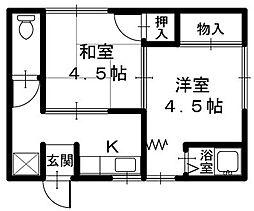 クラウンコーポ[2階]の間取り