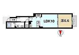 奈良県奈良市中山町西3丁目の賃貸アパートの間取り