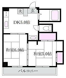 山田共同ビル[2階]の間取り