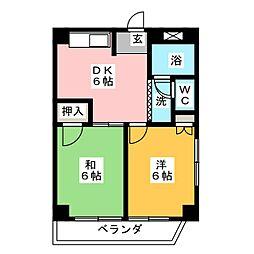 アビタシオン割塚[2階]の間取り