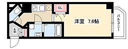 S-RESIDENCE名駅 2階1Kの間取り