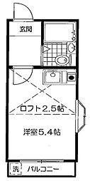 調布コーポ[2階]の間取り