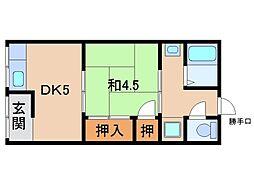 山口アパート[1階]の間取り