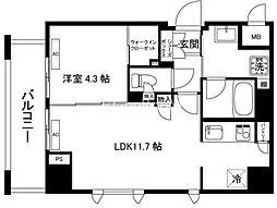 ガーデンヒルズ柿ノ木坂[1階]の間取り