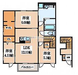 (仮称)D-room若江南町B棟[2階]の間取り