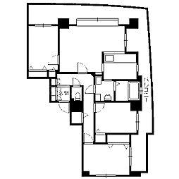 札幌市営東西線 西18丁目駅 徒歩5分の賃貸マンション 14階3LDKの間取り