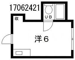 COCOメゾン西田辺[3階]の間取り