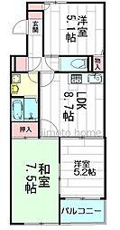 季楽荘[3階]の間取り
