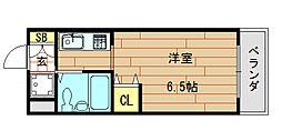 ロイヤルアーク八戸ノ里[4階]の間取り