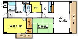 ラソラーナ[2階]の間取り