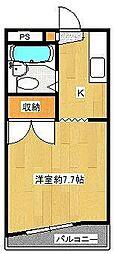 ハイツTBS B棟[2階]の間取り