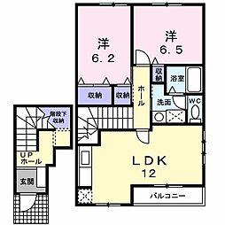 ベールクレール[2階]の間取り