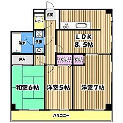 メゾン・ド・コンセール[3階]の間取り