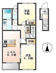 プログレスI[2階]の間取り