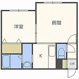 北海道札幌市東区北三十八条東16丁目の賃貸アパートの間取り