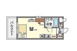 家具・家電付ダイナコート博多駅南  リノルーム[2階]の間取り