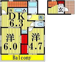 [一戸建] 東京都足立区西新井4丁目 の賃貸【/】の間取り