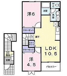 メゾンドコリーヌ[2階]の間取り