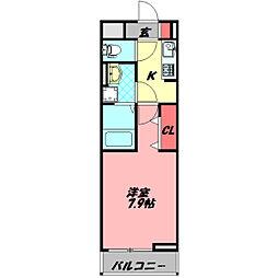 Osaka Metro谷町線 守口駅 徒歩18分の賃貸アパート 2階1Kの間取り