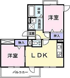 埼玉県春日部市中央2丁目の賃貸マンションの間取り