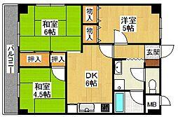 兵庫県宝塚市金井町の賃貸マンションの間取り