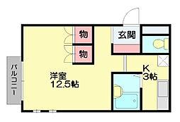 ホッツレジデンス弐番館[2階]の間取り