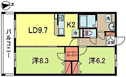東京都杉並区成田東2丁目の賃貸マンションの間取り