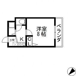 ロンモンターニュ小阪[213号室号室]の間取り