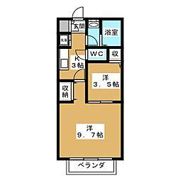 セゾン・NOIX[1階]の間取り