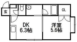 ジョイ発寒[2階]の間取り