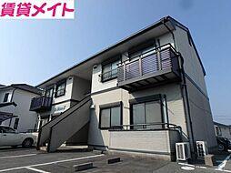 三重県松阪市宝塚町の賃貸アパートの外観