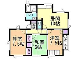 戸倉町16番1棟2戸 2階3LDKの間取り