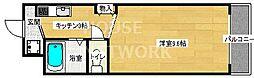 京都府京都市上京区中筋通大宮西入横大宮町の賃貸マンションの間取り