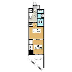 ベラジオ三条朱雀[2階]の間取り