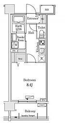 新交通ゆりかもめ 新豊洲駅 徒歩22分の賃貸マンション 5階1Kの間取り