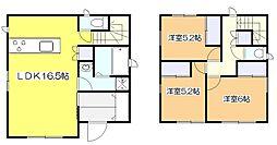 [一戸建] 東京都東大和市狭山5丁目 の賃貸【/】の間取り