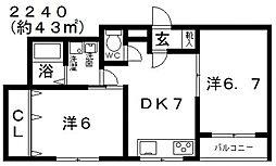 シティ城山III[302号室号室]の間取り