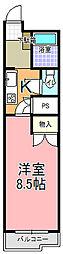 アル・カーザ五軒町(205号室)[205号室]の間取り