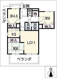 グランドメゾン徳川東401号室[4階]の間取り
