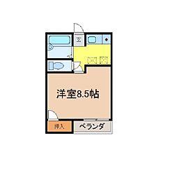 キャンパス西宮 K[103号室]の間取り