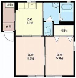 メゾン・ド・プリンB[2階]の間取り