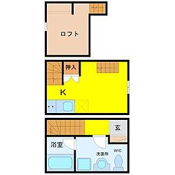 LE COCON 新川町II[2階]の間取り