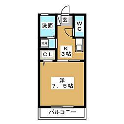アミューズIII[1階]の間取り