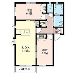ロート・ベールII[1階]の間取り