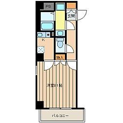 東京都中央区日本橋人形町2丁目の賃貸マンションの間取り