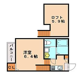 仮)六本松4丁目Aコーポ[1階]の間取り