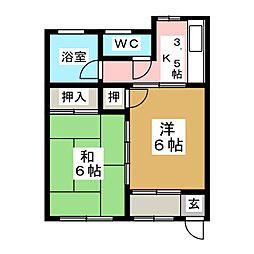 阿部アパート[1階]の間取り