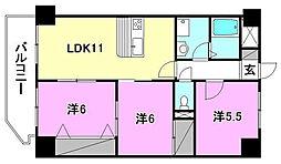 ファミール道後姫塚[102 号室号室]の間取り