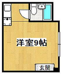 OKハイツ8号館[1階]の間取り